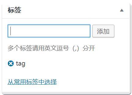 WordPress添加tag标签