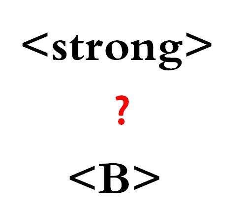 b标签和strong标签的区别