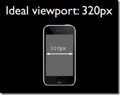 css中的320px就代表iphone屏幕的宽度