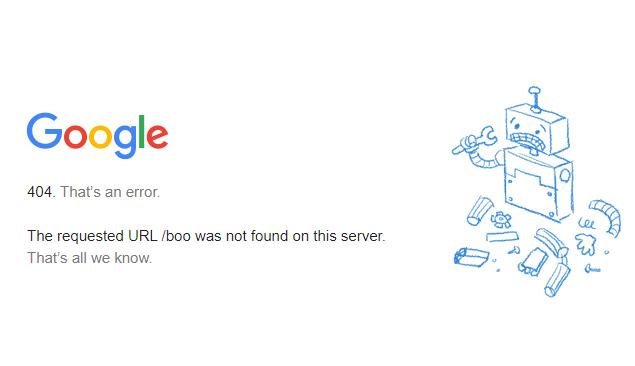 谷歌404错误页