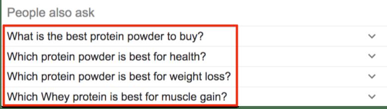 谷歌常见问题搜索建议