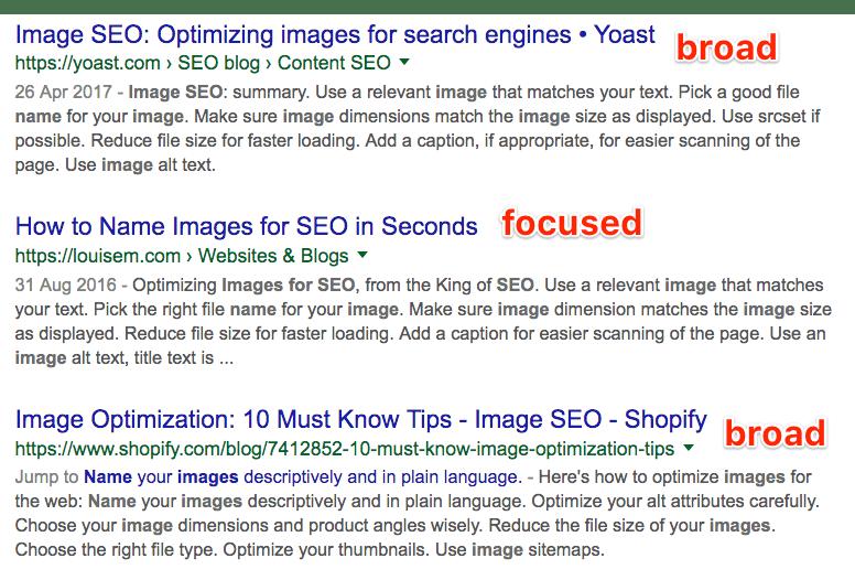 图片SEO优化搜索结果