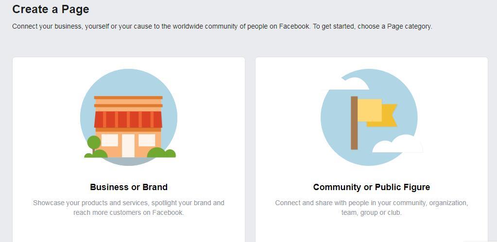 Facebook创建企业主页