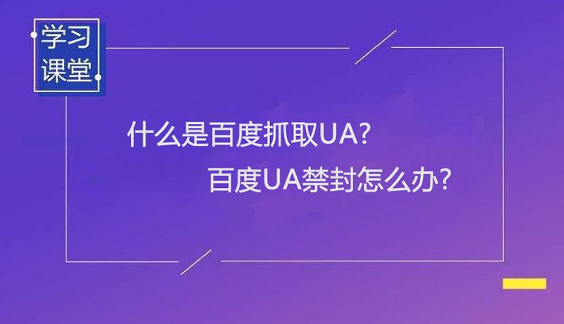 什么是百度抓取UA?