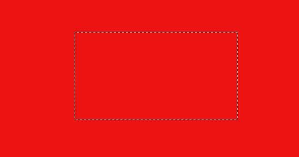 使用画一个矩形方框工具画一个矩形方框