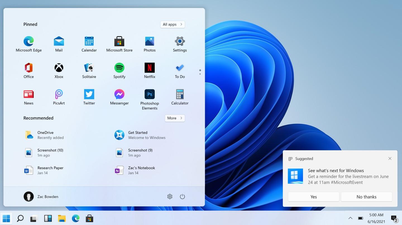 Windows 11 英文预览版